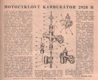 Motocyklový karburátor 2928 H