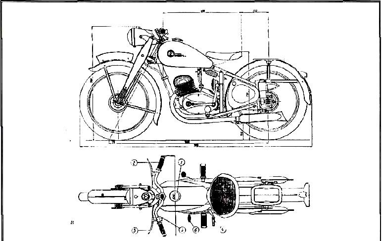 Rozměrový náčrt ČZ 150C